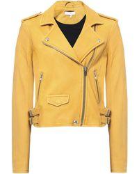 IRO Ashville Leather Jacket - Yellow