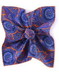 Jules B - Silk Paisley Pocket Square - Lyst