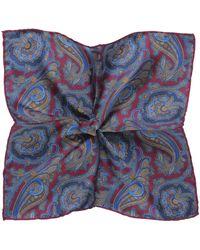 Jules B - Silk Paisley Pocket Square - Lyst