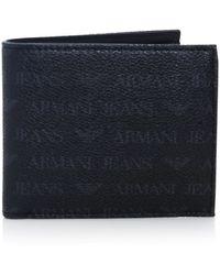 Armani Jeans Logo Coin Wallet - Black
