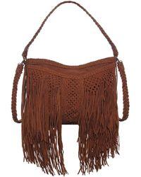 En Shalla - Fringe Leather Tote Bag - Lyst