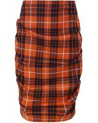 Vivienne Westwood Anglomania - Tartan Tuck Mini Skirt - Lyst
