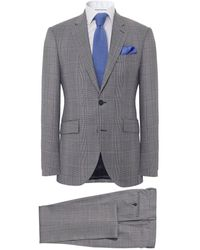 Hackett - Wool Check Suit - Lyst