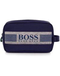 BOSS Green - Fabric Blend Pixel Wash Bag - Lyst