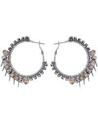 Butterfly - Beaded Sloane Square Hoop Earrings - Lyst