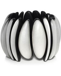 Monies - Ebony Pearl Leaf Bracelet - Lyst