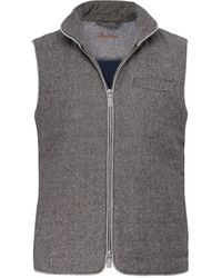 Stenstroms - Quilted Donegal Tweed Gilet - Lyst