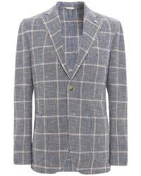 L.B.M. 1911 - Silk Blend Houndstooth Check Jacket - Lyst