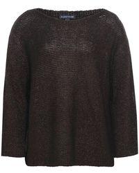 Eileen Fisher - Knitted Linen Cold Shoulder Jumper - Lyst