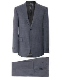 Corneliani - Virgin Wool Micro Check Suit - Lyst