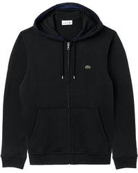 Lacoste - Zip-through Logo Hoodie - Lyst