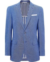 BOSS - Slim Fit Linen Blend Hartlay Jacket - Lyst