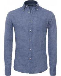 Baldessarini - Button-down Linen Shirt - Lyst