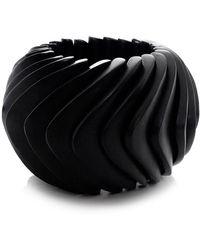Monies | Ebony Chunky Structured Bracelet | Lyst