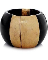 Monies | Chunky Palmwood Ebony Bracelet | Lyst