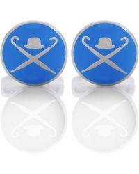 Hackett - Domed Logo Cufflinks - Lyst