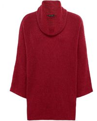Grizas - Cowl Neck Ribbed Jumper - Lyst