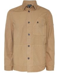 Barbour - Sand Camber Button Through Overshirt - Lyst