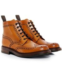 Loake | Leather Bedale Brogue Boots | Lyst