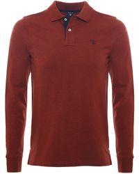 GANT - Long Sleeve Rugger Polo Shirt - Lyst