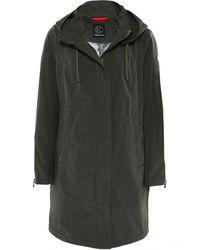 Creenstone - 3/4 Hooded Contrast Stripe Coat - Lyst