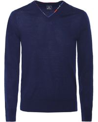 PS by Paul Smith - Merino Wool V-neck Jumper - Lyst
