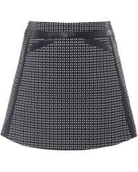Barbour - Folco Leather Trim Skirt - Lyst