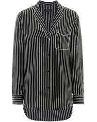 Rag & Bone Silk Hahn Pyjama Shirt - Black