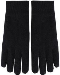 GANT - Knitted Wool Blend Gloves - Lyst