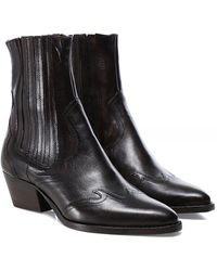 H by Hudson Sienna Leather Chelsea Boots - Brown