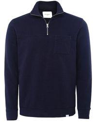 Les Deux Half-Zip Cesana Sweatshirt - Bleu