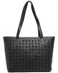 Valentino By Mario Valentino Concorde Logo Tote Bag - Noir