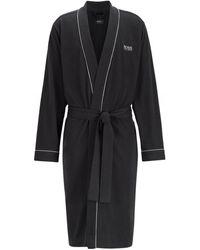 BOSS Cotton Kimono Robe - Noir