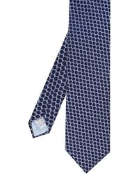 Stenstroms Silk Polka Dot Tie - Blue