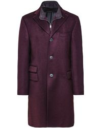 Corneliani Virgin Wool Overcoat - Multicolore