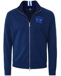 La Martina Zip-through Sweatshirt - Blue