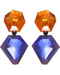 Monies Riley Clip On Earrings - Orange
