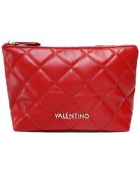 Valentino By Mario Valentino Ocarina Quilted Wash Bag - Red
