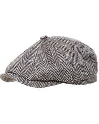 Stetson Virgin Wool Silk Hatteras Cap - Marron