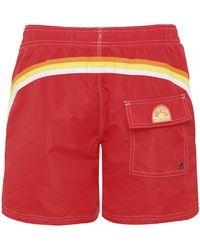 Sundek Short-length Swim Shorts - Red