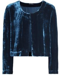 Grizas - Velvet Cropped Jacket - Lyst