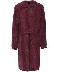 Rails Hana Silk Python Print Dress - Rouge