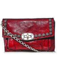 Campomaggi Leather Studded Shoulder Bag - Rouge