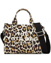 Marc Jacobs Leopard Mini Traveller Tote Bag - Noir