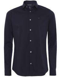 Armani - Slim Fit Stretch Shirt - Lyst