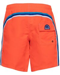Sundek Mid-length Swim Shorts - Orange