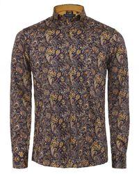 Guide London Slim Fit Paisley Shirt - Multicolore