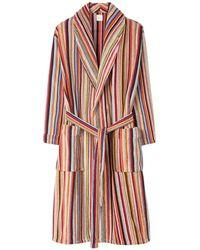 Paul Smith Cotton Towelling Signature Stripe Robe - Multicolor