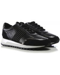 Geox Leather Tabelya Sneakers - Black