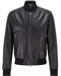 BOSS by Hugo Boss Nappa Leather Nipet Jacket - Black